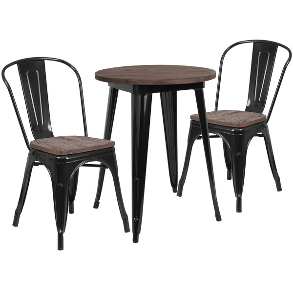 Priceville 3 Piece Solid Wood Dining Set by Williston Forge