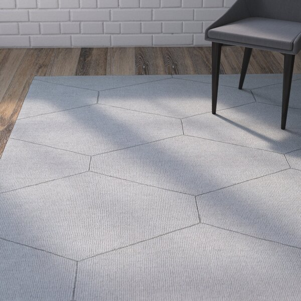 Belle Hand-Loomed Light Gray Area Rug by Wrought Studio