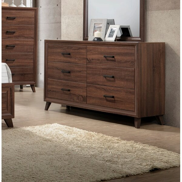 Lusk 6 Drawer Double Dresser by Union Rustic