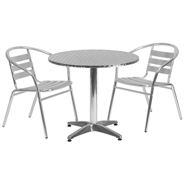 Casper Round Indoor Outdoor 3 Piece Bar Height Dining Set by Ebern Designs