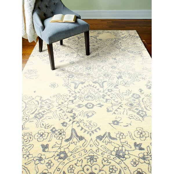 Flori Hand-Tufted Ivory Area Rug by Bungalow Rose