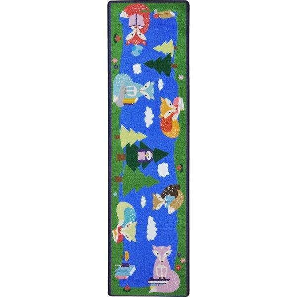 Foxy Readers Blue/Green Area Rug by Joy Carpets