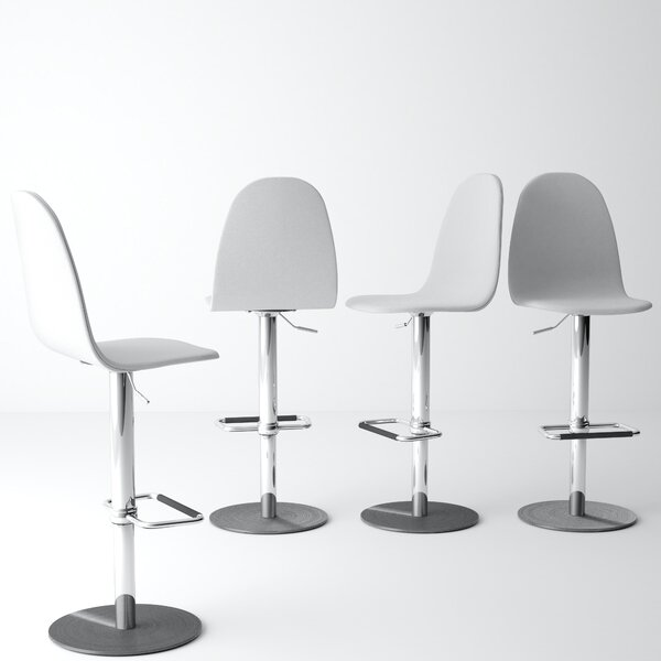 Wendy Adjustable Height Swivel Bar Stool by Corrigan Studio