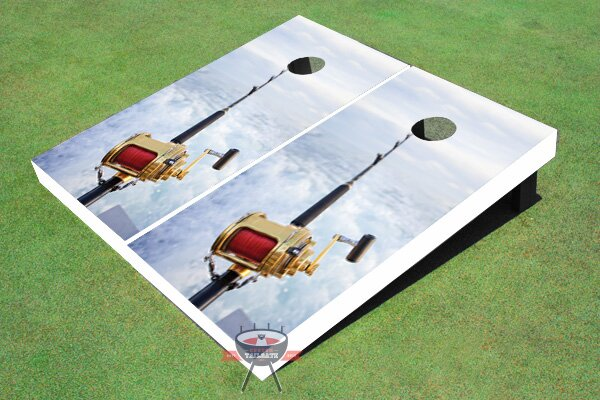 Fishing Rod Cornhole Board (Set of 2) by All American Tailgate