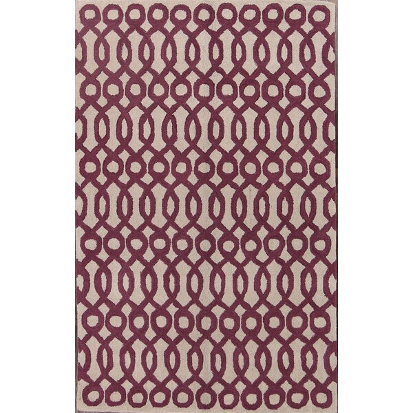 Tiana Oushak Oriental Hand-Tufted Wool Beige/Burgundy Area Rug by Darby Home Co