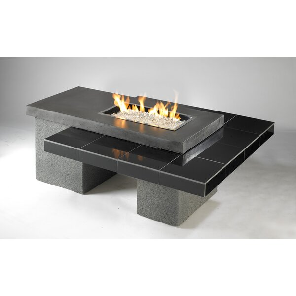 Uptown Concrete Gas Fire Pit Table by The Outdoor GreatRoom Company