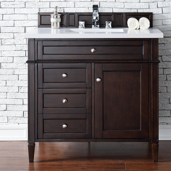 Deleon 36 Single Burnished Mahogany Bathroom Vanity Set by Darby Home Co