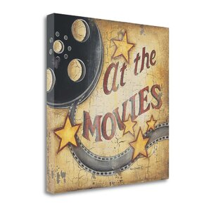 'At The Movies' Graphic Art Print on Canvas by Tangletown Fine Art
