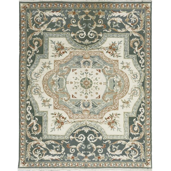 One-of-a-Kind Sumack Hand-Knotted Wool Green Area Rug by Bokara Rug Co., Inc.