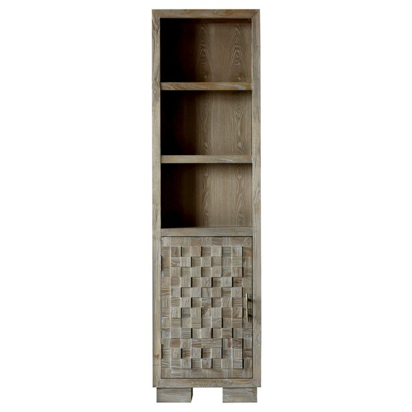 Claris 22 W x 80 H Linen Tower by Bungalow Rose