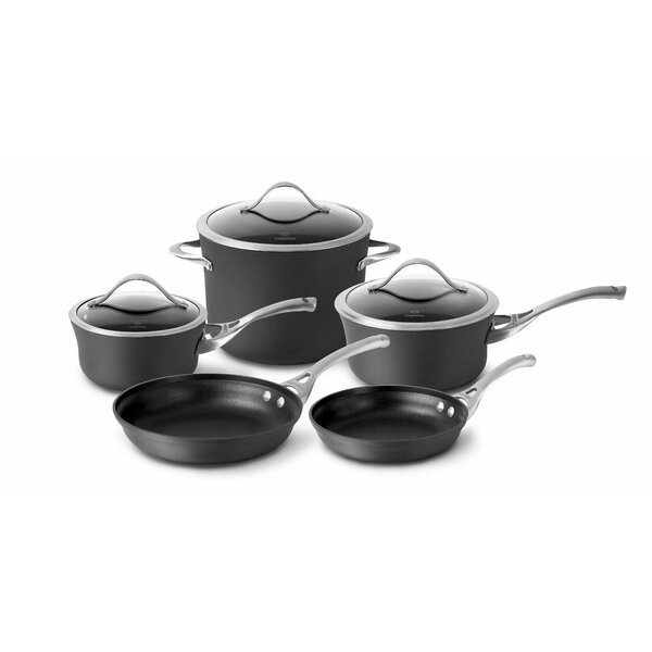 Contemporary Nonstick 8-Piece Cookware Set by Calphalon