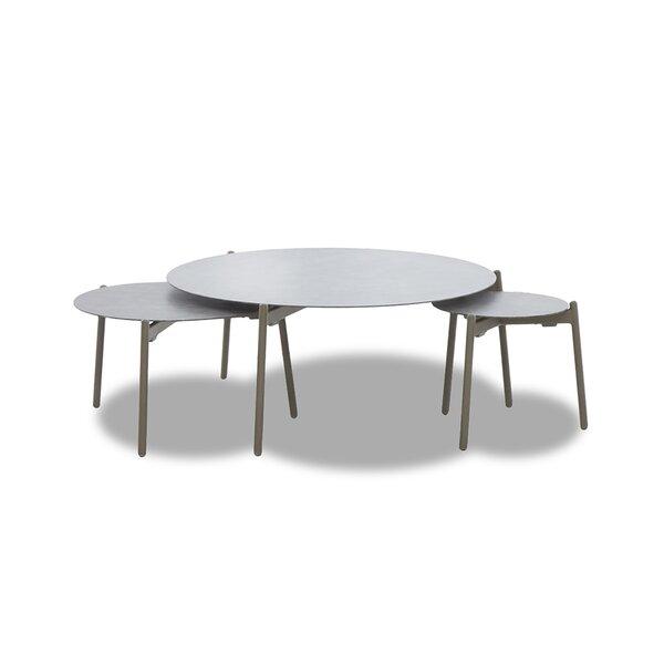 Hexham Aluminum 3 Piece Coffee Table Set by Brayden Studio