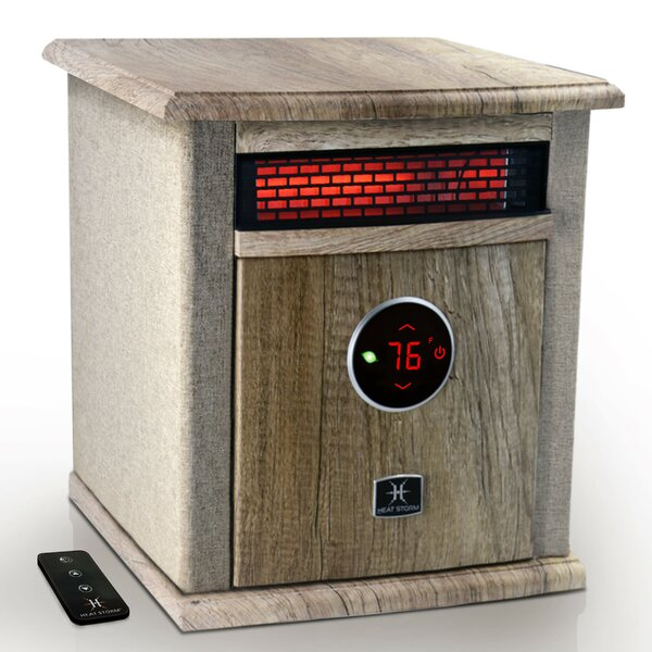 1,500 Watt Electric Infrared Cabinet Heater With Digital Thermostat By Heat Storm