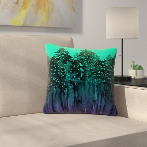 Ebi Emporium Forest Through the Trees 9 Outdoor Throw Pillow by East Urban Home