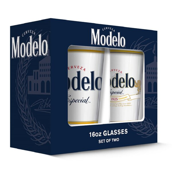 Modelo Especial Pub 16 oz. Pint Glasses (Set of 2) by PB