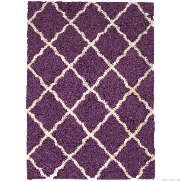 Abbey Purple Area Rug by Harriet Bee
