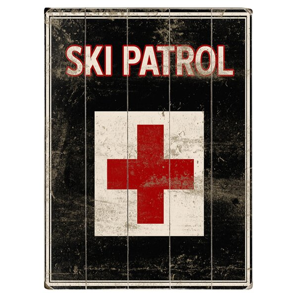 Ski Patrol Graphic Art Multi-Piece Image on Wood by Artehouse LLC