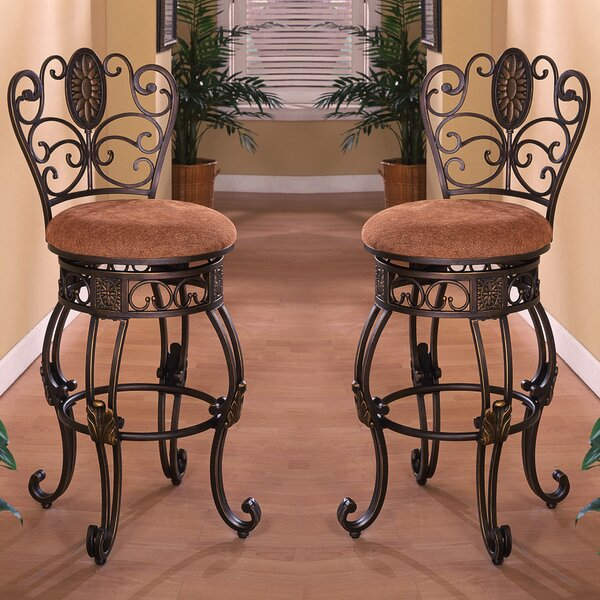 Wherry 30 Swivel Bar Stool (Set of 2) by Fleur De Lis Living