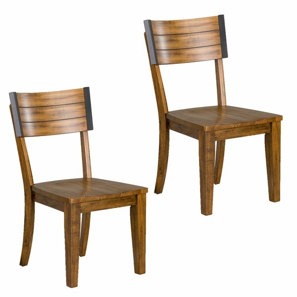 Leandra Square-Back Dining Chair (Set of 2) by Williston Forge