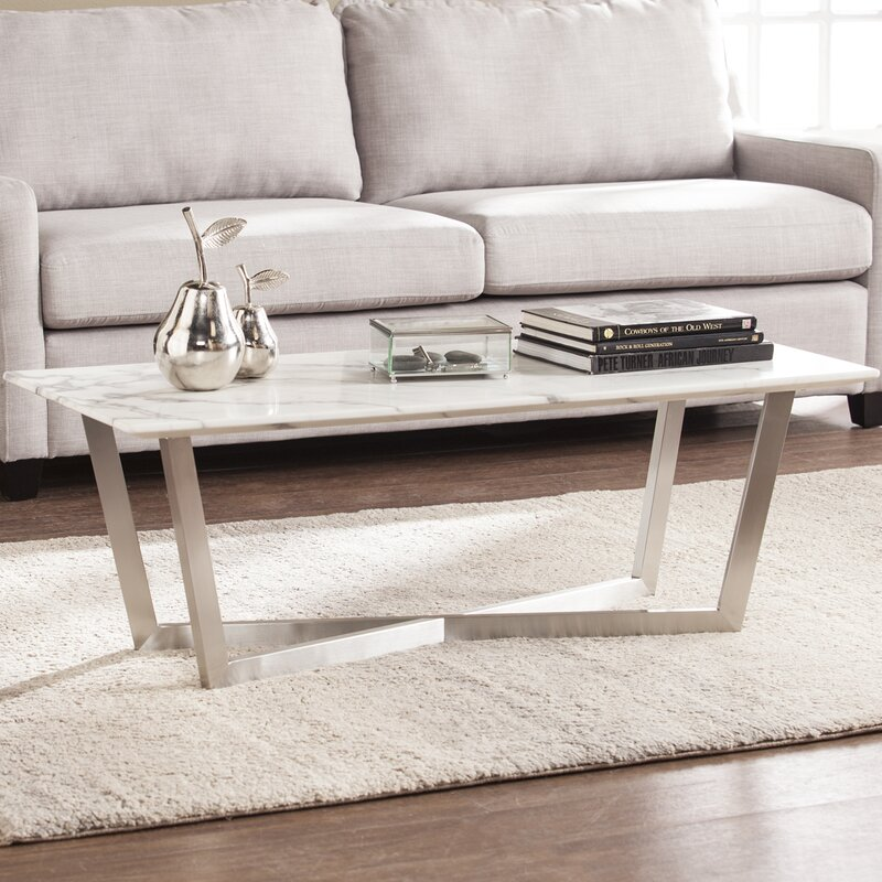 Popular Marble Coffee Table Set