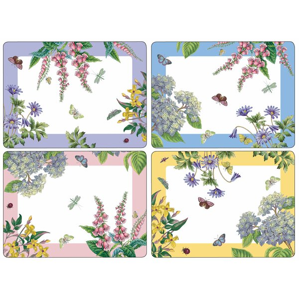 Pimpernel Botanic Garden Terrace 16'' Placemat (Set of 4) by Pimpernel