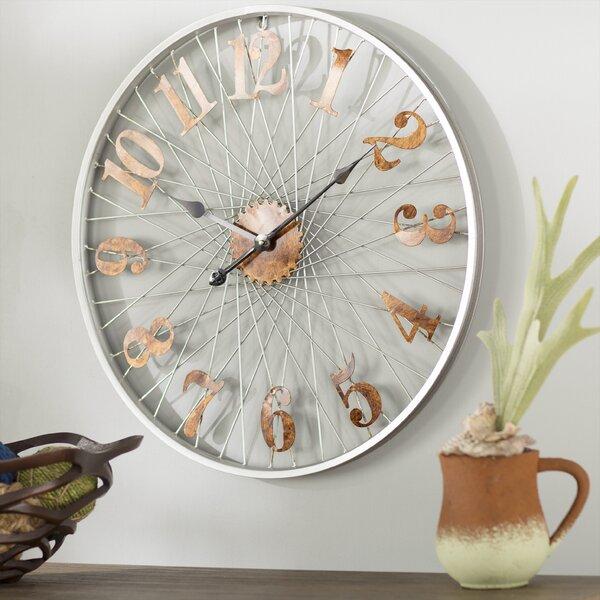 Oversized Kennan Metal 26.8 Wall Clock by Trent Austin Design