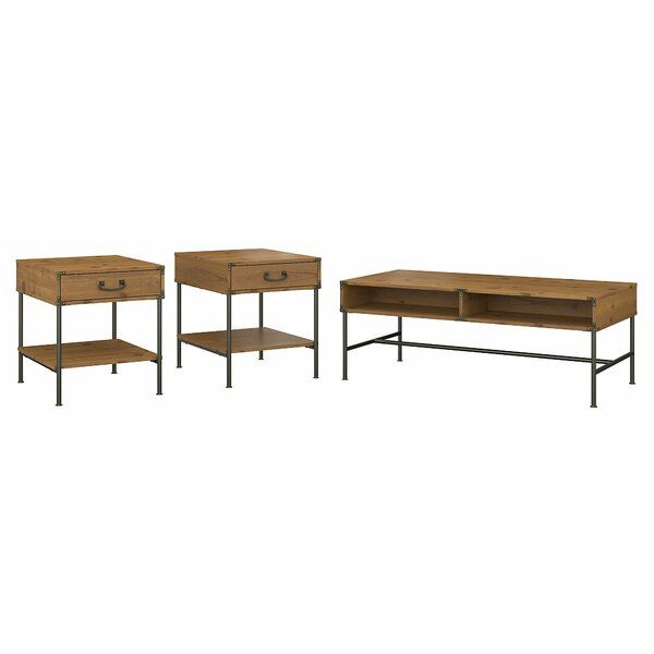 Ironworks 3 Piece Coffee Table Set by Kathy Ireland Home by Bush Furniture
