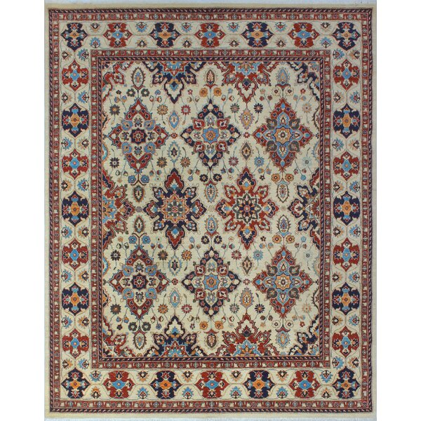One-of-a-Kind Woodmoor Noorzad Hand-Knotted Wool Ivory Area Rug by Loon Peak