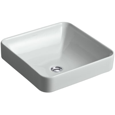 Ceramic Square Sink Overflow Grey photo