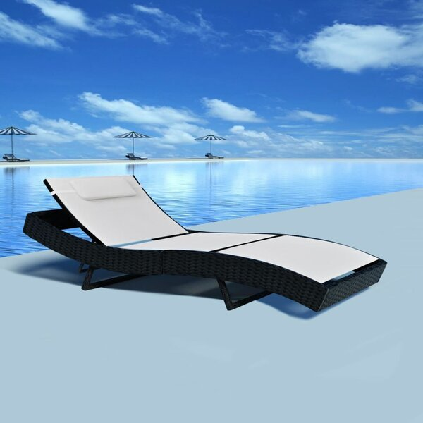 Vitela Reclining Chaise Lounge With Cushions By Highland Dunes