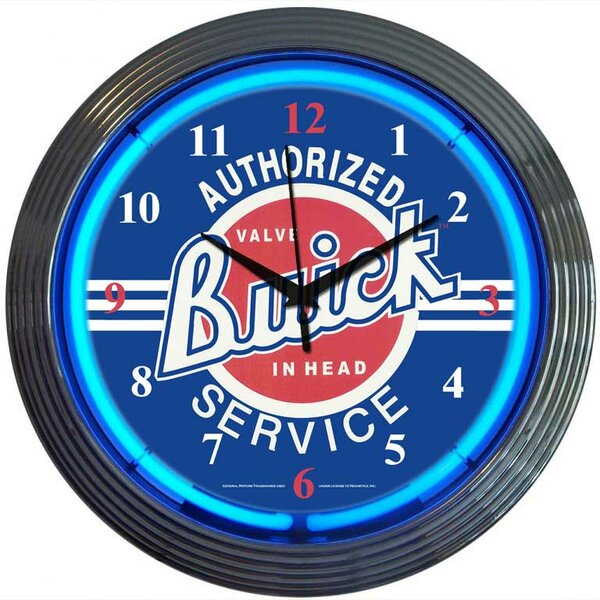 Cars and Motorcycles 15 Buick Wall Clock by Neonetics