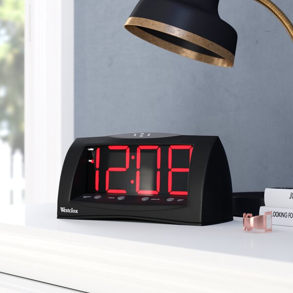 1.8 Oversized Snooze LED Alarm Clock by Symple Stuff