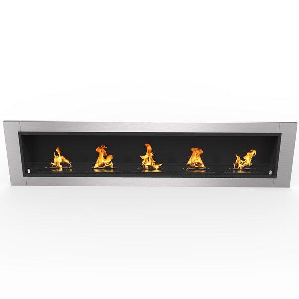 Fernande Ventless Recessed Wall Mounted Bio-Ethanol Fireplace by Orren Ellis