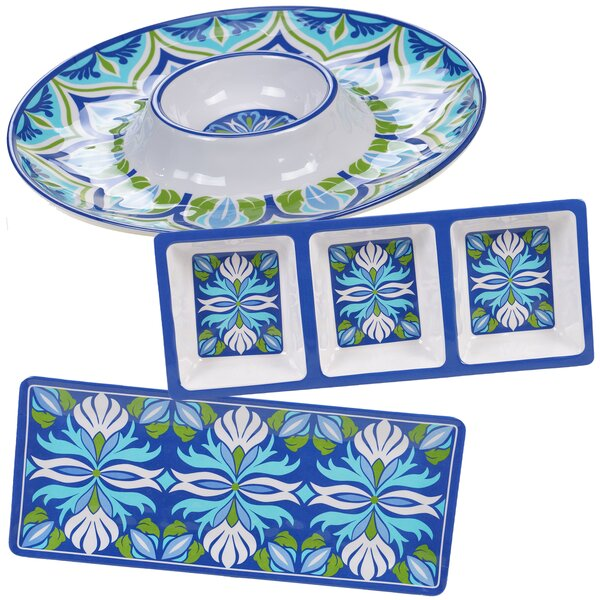 Hoehne 3 Piece Divided Serving Dish Set by Alcott Hill