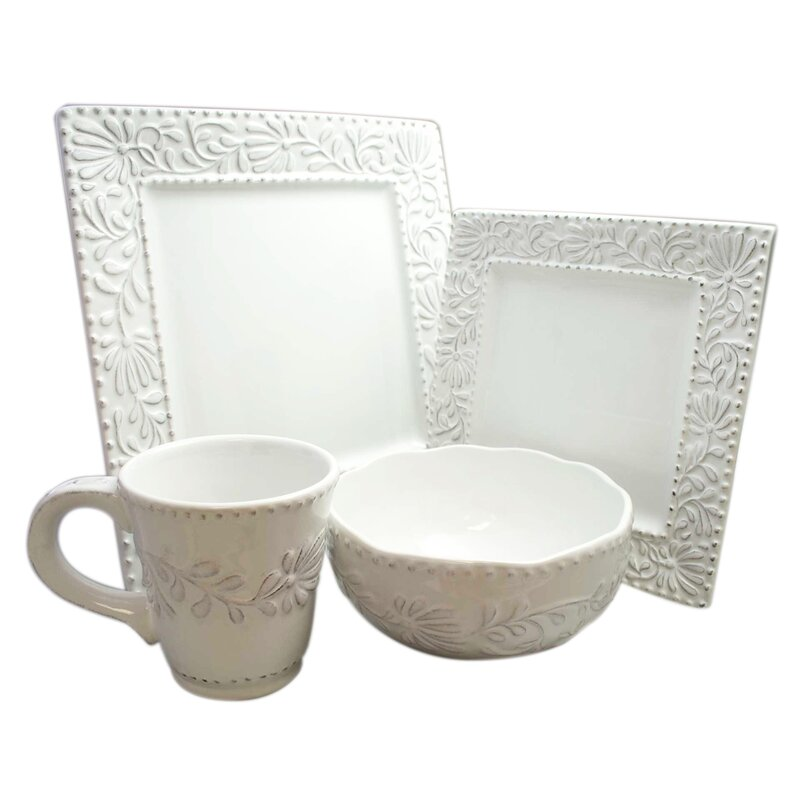 Newport Table Top Square 16 Piece Dinnerware Set Service for 4  sc 1 st  Birch Lane & Newport Table Top Square 16 Piece Dinnerware Set Service for 4