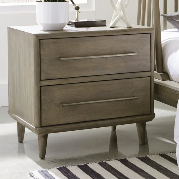 Soria 2 Drawer Nightstand By Corrigan Studio by Corrigan Studio Today Only Sale