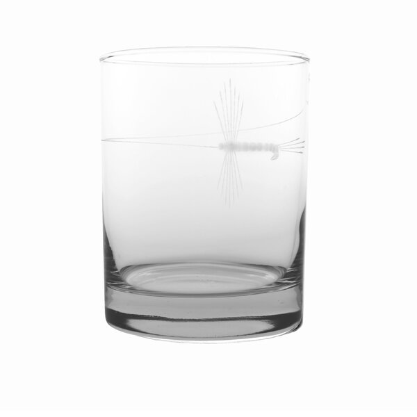 Fly Fishing 14 oz. Double Old Fashioned (Set of 4) by Rolf Glass