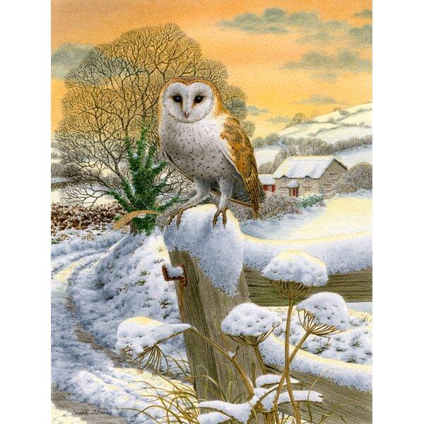 Sunset Barn Owl 2-Sided Garden Flag by Caroline's Treasures