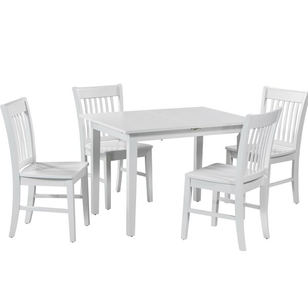 Spiller 5 Piece Extendable Solid Wood Dining Set by Winston Porter Winston Porter