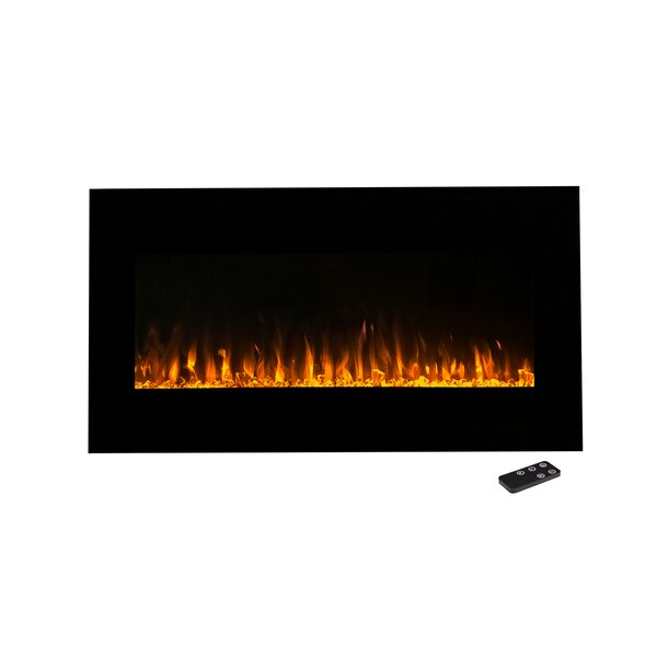 Lazaro Wall Mounted Electric Fireplace by Symple Stuff