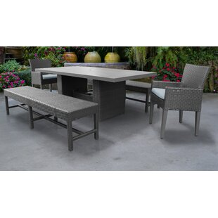 Barbados 5 Piece Dining Set with Cushions By TK Classics