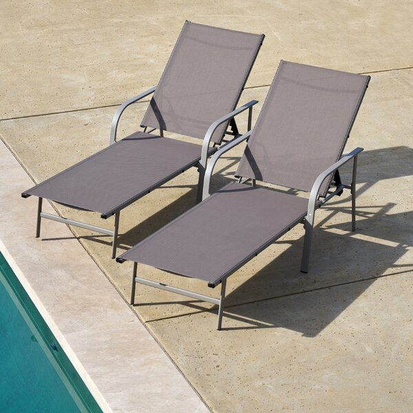 Armando Outdoor Chaise Lounge (Set of 2) by Ivy Bronx