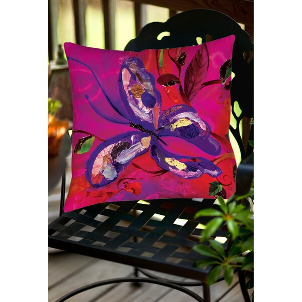 Butterfly Indoor/Outdoor Throw Pillow by Manual Woodworkers & Weavers
