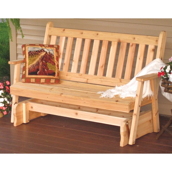 Gavina Traditional English Glider Bench by Millwood Pines