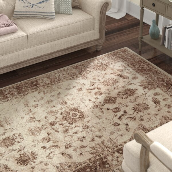 Mathieu Cream/Beige/Brown Area Rug by Lark Manor