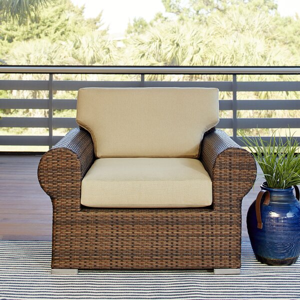 Brookhaven Patio Chair with Cushion by Birch Lane™