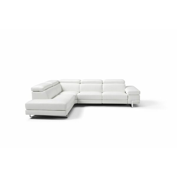 Versha Leather Sectional by Orren Ellis