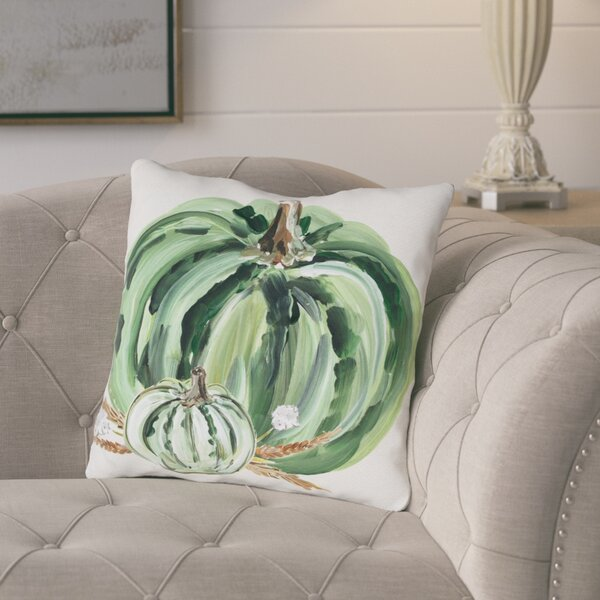 Brawley Pumpkins Throw Pillow by Gracie Oaks