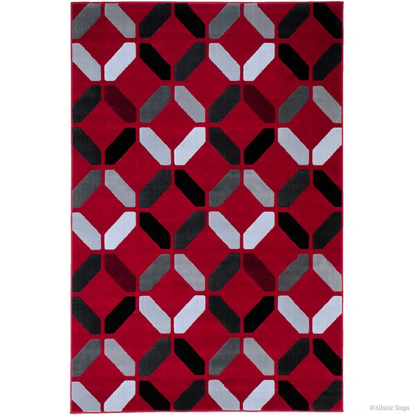 Rowe Red Area Rug by Ebern Designs
