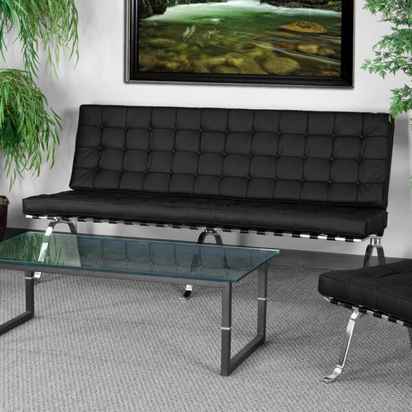Amazing Selection Dillow Leather Loveseat by Latitude Run by Latitude Run